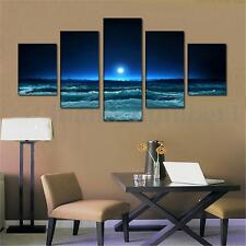 Large Modern Hand-painted Moonlight Art Oil Painting Wall Home Decor Canvas Gift