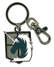 Attack on Titan Military Police Metal Key Chain Anime Manga Licensed MINT
