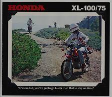 1978 HONDA XL100 & XL75 New Original SALES BROCHURE
