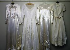 4 Vintage 1940s & 1950s Wedding Gowns - Wholesale vtg RESALE