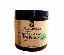 Olde Jamaica Black Castor Oil Pomade with tea tree oil (Hair Grower) - 7.5 oz