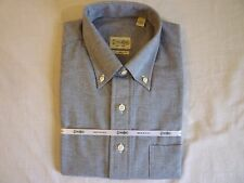 GITMAN BROS LS Tailored Fit PopOver Shirt M New With Tags Made In USA FREE SHIP