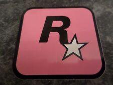 ROCKSTAR GAMES LOGO LONDON PINK STICKER