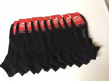 Job lot 10 x PAIRS MENS BLACK TRAINER  SPORTS ANKLE SOCKS Slazenger