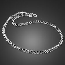 Genuine Solid Sterling Silver Thai Silver Rope Link Chain Men's Necklace N313