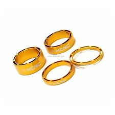 "KCNC HOLLOW 1 1/8"" HEADSET SPACER SET 3-5-10-14MM ROAD MTB - GOLD /USPS"