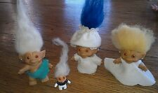 Vintage troll dolls, clothes, pattern lot