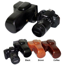Leather camera case bag Grip for Canon EOS Rebel T5i T4i T3i 700D 650D 600D