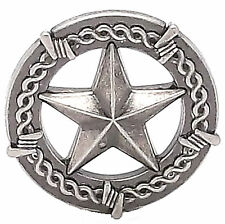 "Star And Barbwire Screwback Concho 1"" Antique Nickel 7923-21"