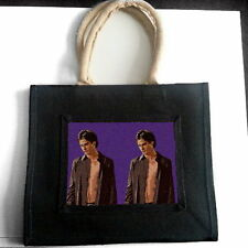 THE VAMPIRE DIARIES IAN SOMERHALDER JUTE TOTE SHOPPING BAG PHOTO FAN ART GIFT