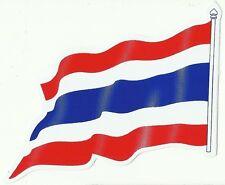 AUTOCOLLANT STICKER DRAPEAU THAILANDE DIMENSIONS 12 X 8,5 CMS