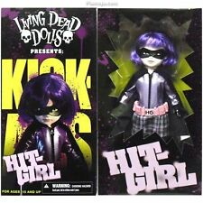 "LIVING DEAD DOLLS ~ Kick Ass Hit-Girl 10"" Figure Exclusive (Mezco) #NEW"