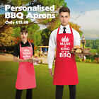 Personalised BBQ Aprons! King/Queen of the Barbecue | Perfect for Men and Women