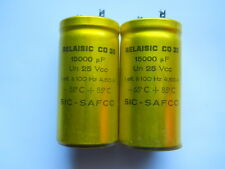 2 x 15000uF @ 25Vcc SIC-SAFCO RELAISIC CO 35