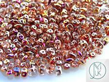 10g Czech SuperDuo Twin Beads Crystal Sliperit