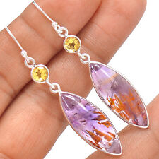 Cacoxenite Super Seven 7 Mineral Melody 925 Silver Earrings Jewelry SE139566