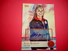 Autographed Alex Morgan 2012 Topps (40 Of 50) Card #90. Gold Seal, Olympics,