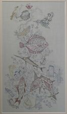 Marjorie A. Lucas RCA 'Endless Sea' Needlework of sea creatures 1981