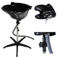 Pro Portable Shampoo Basin Height Adjustable Salon Hair Treatment Bowl Black New