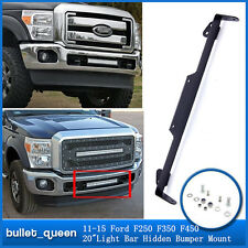 "For 11-15 Ford Super Duty F250 F350 F450 20"" Led Light Bar Hidden Bumper Mount"