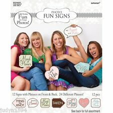 BRIDAL SHOWER GAME CARDS SIGNS PARTY PHOTO BOOTH ENGAGEMENT WEDDING HENS NIGHT