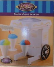 NOSTALGIA ELECTRICS SNOW CONE MAKER SOTRBETIERE NEW NIB VINTAGE CART DESIGN