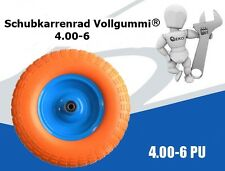 PU Rad  Schubkarrenrad Vollgummi 4.00-6 Gummirad mit Asche