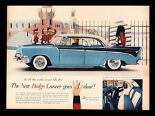 "ORIGINAL 1955 ""DODGE LANCER"" CUSTOM ROYAL LANCER CLASSIC CAR  ART PRINT AD"