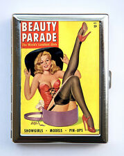Pin up pinup Hat stockings Cigarette Case Wallet Business Card Holder retro rock