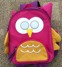 $49 The Company Store Kids Girls Backpack Back Pack Bag OS Owl Hot Pink 78070