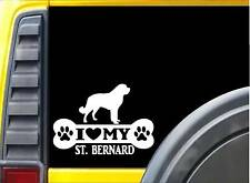 Saint Bernard Bone L025 8 inch Sticker st dog decal