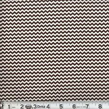"2 yards of ""Mini Chevron"" Brown  Fabric"