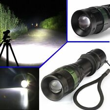 CREE XM-L T6 Zoomable 5000 Lumen Tactical LED Flashlight Torch Lamp USA