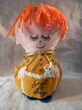 """Western Union """"Just to say..."""" Dolly Gram Doll Vintage Red Hair"""