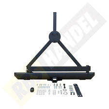 Bumper with Tire Carrier, Rear, Hinten, Schwarz Jeep Wrangler YJ 1987/1995
