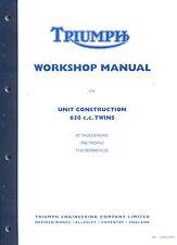Triumph Bonneville Workshop Manual  TR6 T120 650  UK USA 1963-1970