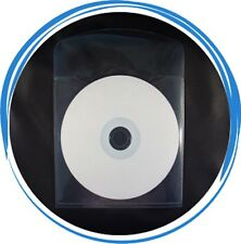 1000 Premium Grade CD DVD CPP Clear Plastic Sleeve Envelope  with Flap & Tab Cut