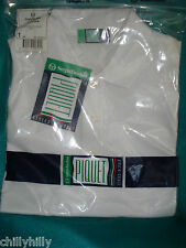 Sergio Tacchini Donna Sleeveless Polo Shirt White Cotton Size Large BNWT