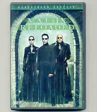 Matrix Reloaded 2003 widescreen 2-disc DVD movie Keanu Reeves Lawrence Fishburne