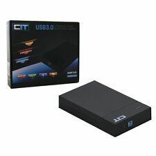 "CIT 2.5"" & 3.5"" USB 3.0 Sata Tooless HDD Enclosure M35TU3 - Black Support 4TB HD"
