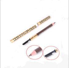 2 in 1 Waterproof Longlasting Eyeliner Eyebrow Eye Brow Pencil & Brush Makeup