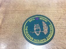 Vintage Cloth Patch Scout Badge Scouting Memorabilia Bail Wood Aldbrough Jubilee