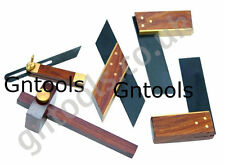 5PC Mini Craft Woodworking Model & Craft Making Tools Carpenter Brass & Hardwood