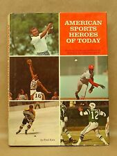 Vtg American Sports Heroes of Today by Katz Hardcover Book w/DJ 1970 MLB NFL NBA
