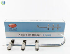 NEW DENTAL X-RAY FILM HANGER 6 CLIPS FOR XRAY FILM DIP TANK DEVELOPER 451-0006