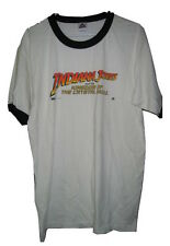 INDIANA JONES AND THE KINGDOM OF THE CRYSTAL SKULL RINGER WHITE T SHIRT MENS L