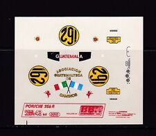 NEW BBR Decal Sheet Porsche 356A IV.Carrera Panamericana Nr162  Scale 1/43