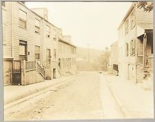 Four Cabinet Photographs of Street and Buildings Scenes in Easton PA c1900