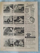 1950 Magazine Advertisement Page Kellogg's Shredded Wheat Spoon Clorox Bleach Ad