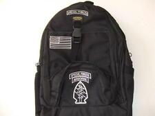 US ARMY SPECIAL FORCES  BACKPACK DAY PACK  BOOK  BAG COMPUTER BLACK  EMBROIDERED